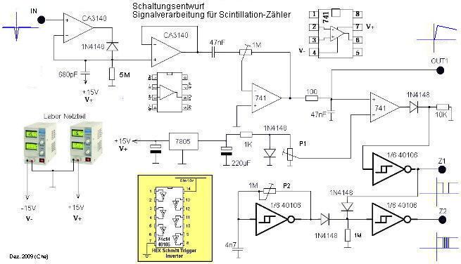 Schaltungsentwurf Signalverarbeitung für Gamma-Spektrometer Eigenbau