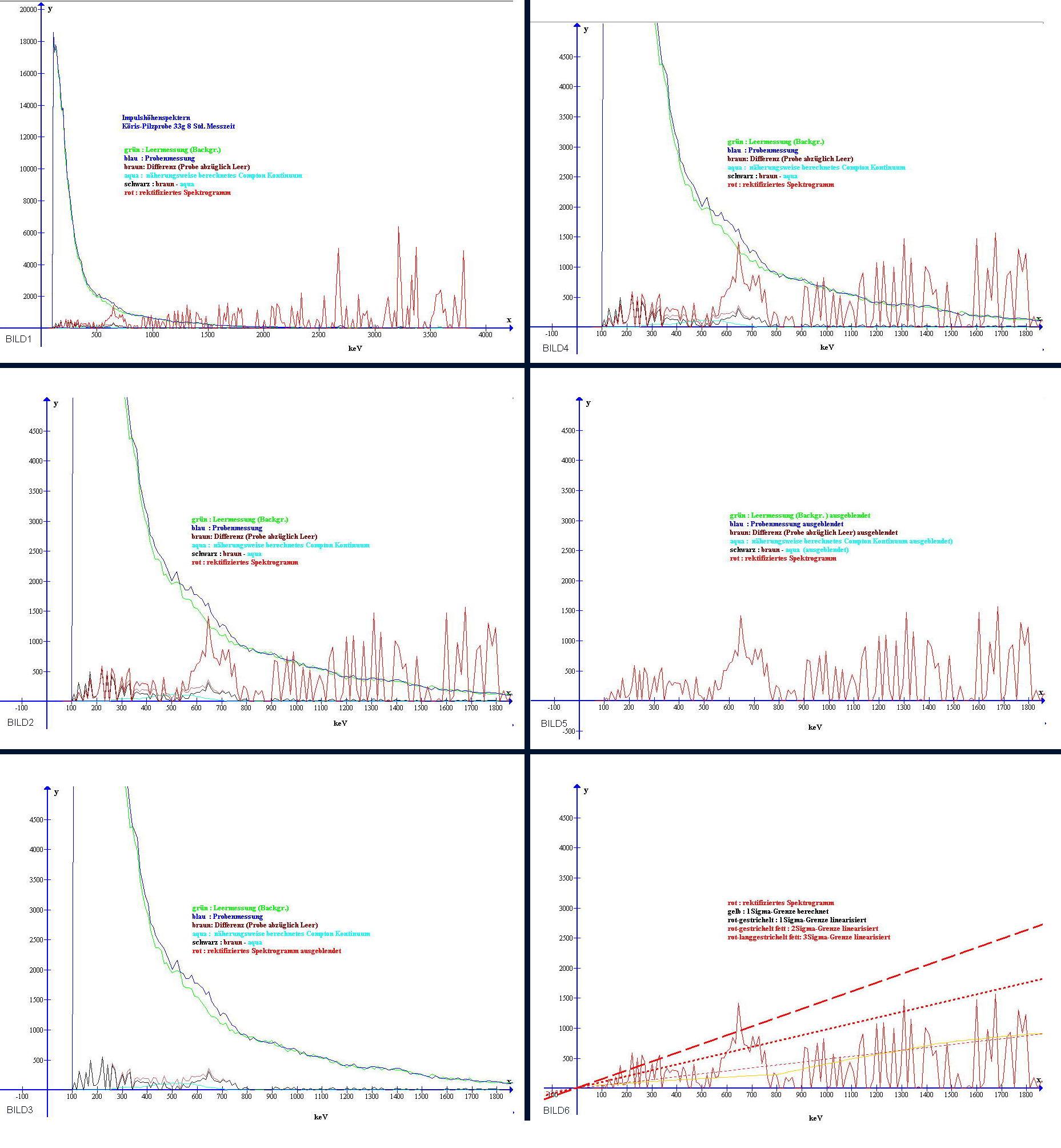 Entstehung meines rektifizierten Gamma-Spektrogramms, einzelne Rechenschritte im Überblick.