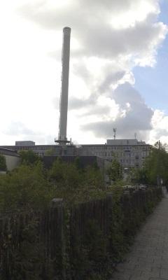 Ein fast verstecktes kleines Heizwerk in München